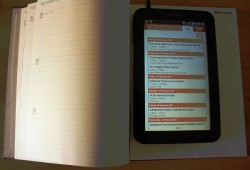 Starbucks 2011 planner and Google Calendars on the Samsung Galaxy Tab