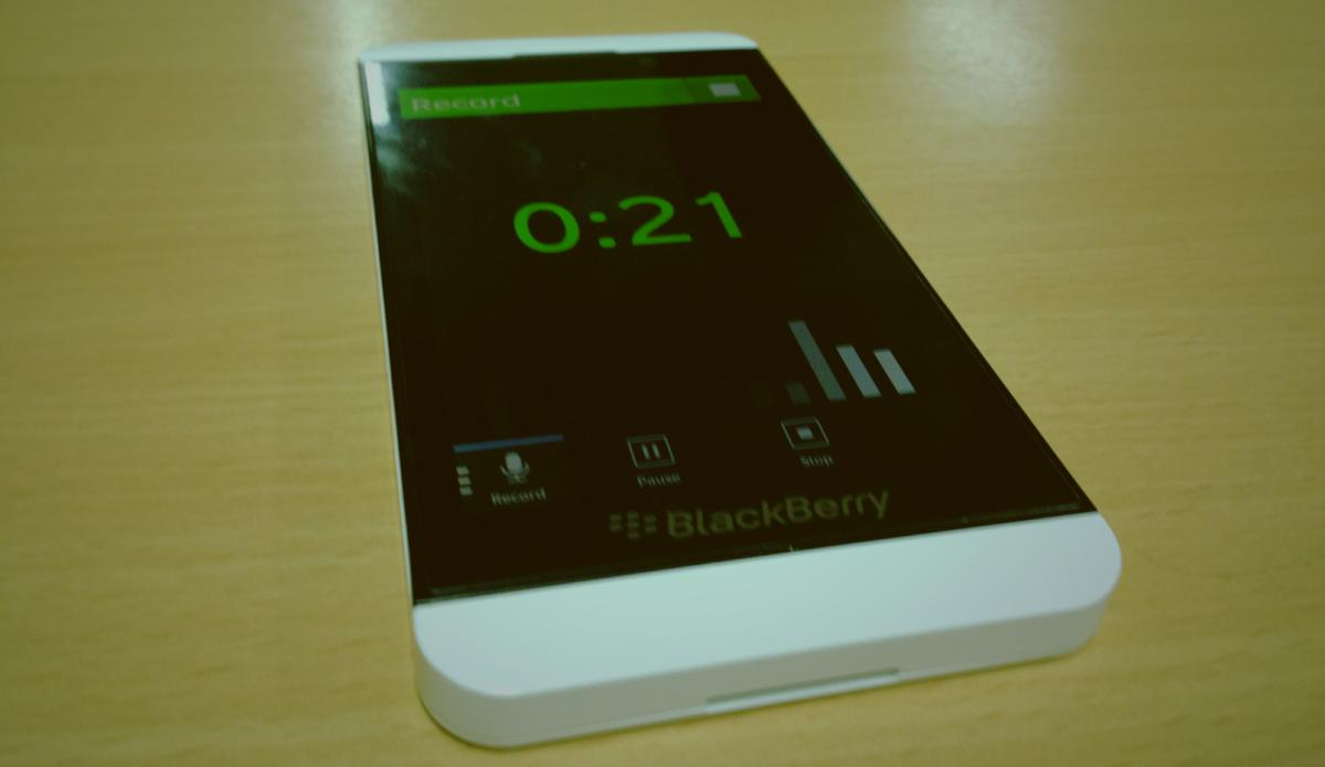 Parrot voice record BlackBerry Z10
